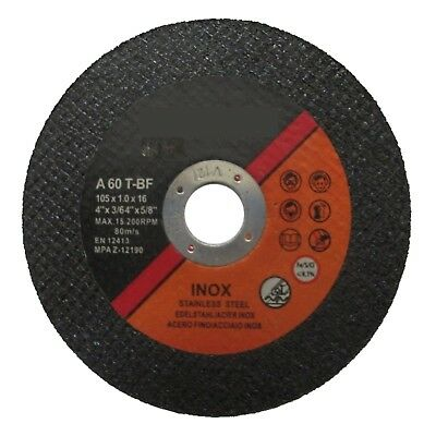 "50x 4"" 105mm Cutting Discs Wheels 105mm x 1mm x 16mm 4 Inch"