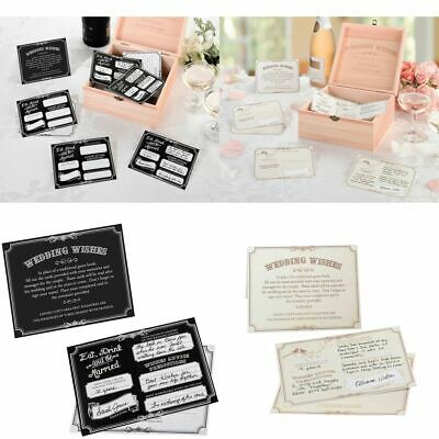 Wedding Wishes Cards Guest Book Alternative Wishing Well Reception Decoration