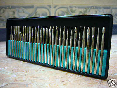 30 pieces THK Diamond coated rotary point burrs burr drills bit TYPE 2 Grit 120