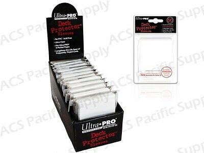 600 ULTRA PRO WHITE DECK PROTECTORS SLEEVES Standard MTG Colors Lot
