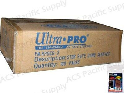 10000 ULTRA PRO STANDARD CARD SLEEVES 100 Packs Penny New Case Lot