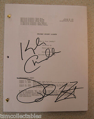 FRIDAY NIGHT LIGHTS autographed script Taylor KITSCH Kyle CHANDLER signed auto'd