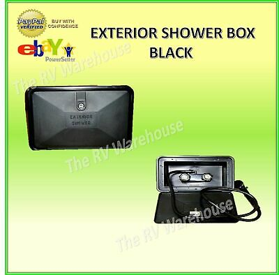 EXTERIOR SHOWER BOX - BLACK- For RV's, and Caravans