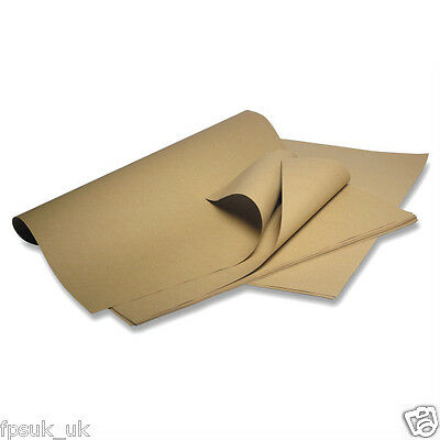 Heavy Duty Brown Kraft Wrapping Paper 90GSM 375mm x 500mm Qty 45 sheets