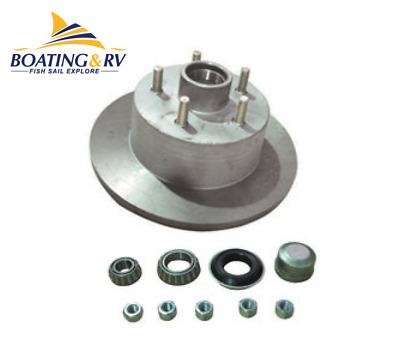 Disc Hub Galvanised Ford Sl Bearings - Trailer and Towing