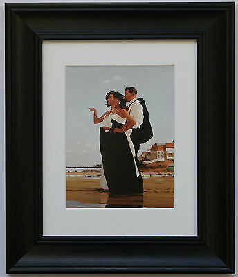 The Missing Man by Jack Vettriano Framed & Mounted Art Print Black Frame
