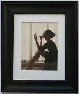 Only The Deepest Red by Jack Vettriano Framed & Mounted Art Print Black Frame