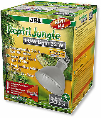 JBL ReptilJungle L-U-W Light Alu 35 W - Licht – UV und Wärme in einem