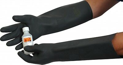 UCI ULBK36 Heavy Duty Natural Rubber Glove Gauntlet 17.5 inch - Chemical & Acid