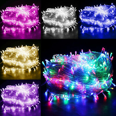 300/500 LED Christmas Xmas Tree Fairy String Lights Outdoor Indoor With UK Plug
