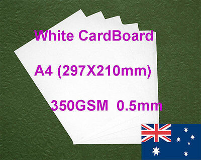 10 X A4 White Card Board Cards 350GSM All Wood Pulp Made