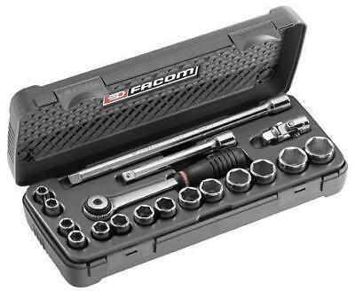 FACOM 3/8 DRIVE 8MM to 22MM METRIC SOCKET RATCHET & ACCESSORY TOOL SET