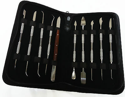 Dental Lab Waxing Carving Tools Kit Surgical Stainless Steel Scalers Figs ISO CE