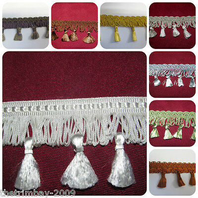 Premium Quality Tassel Fringe & Decorative Braid Furnishing Trimming £3.50 Metre