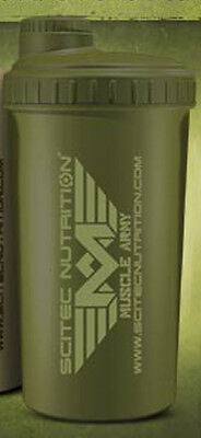 Scitec Nutrition Shaker Muscle Army Mimetico Camouflage Verde Militare 700 Ml