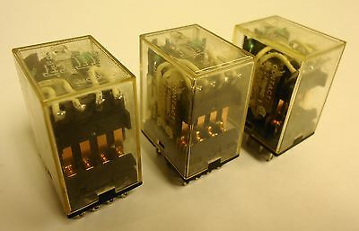 (3) Omron MY4N General Purpose Relay 24VDC