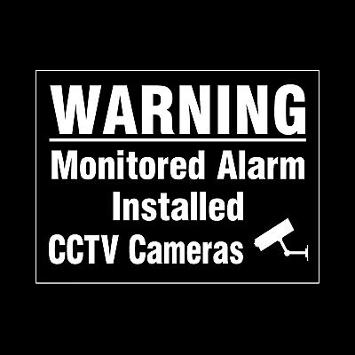 Cctv Alarm Monitored - Security Window Stickers -  Free P+P (Misc36R)