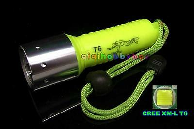 Diving Waterproof  = 20M CREE XM-L T6 LED 1600Lumen Flashlight Torch Lamp Light
