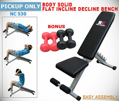 New Sit up Bench Flat Incline Decline  Adiustable Fitness Gym Free Dumbbell
