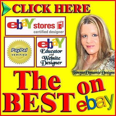ULTIMATE 5 PAGE Custom eBay Store SLIDE SHOW Design (w eBay Listing Template)