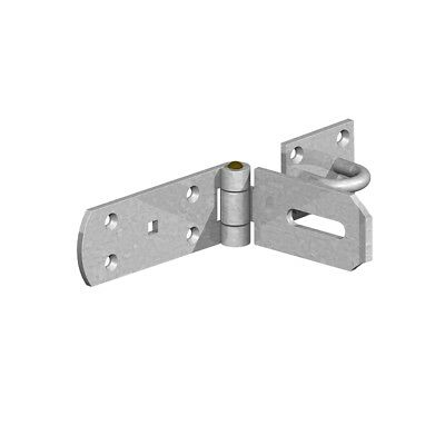 "Hasp and Staple Heavy Duty 8"" (200mm) Galvanised"