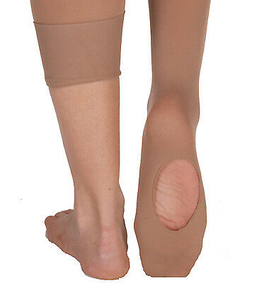 Body Wrappers C81 Suntan Girl's Size Small/Medium (4-7) Convertible Tights