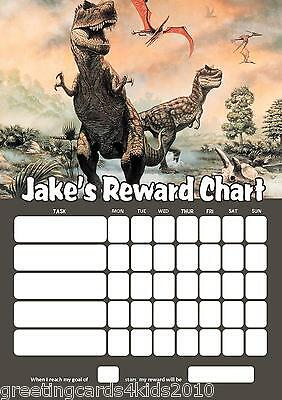 Personalised Dinosaurs Reward Chart & Pen - with or without photo