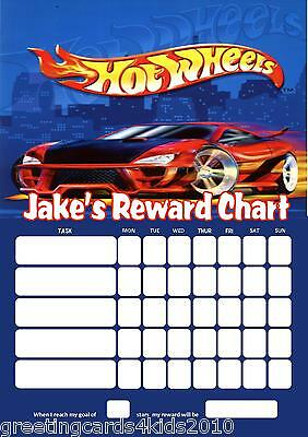 Personalised Hot Wheels Reward Chart & Pen - with or without photo