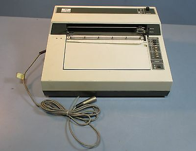 Instron 41PA0557 Fanfold Chart Recorder Printer with 4 Pin Connection Cable Used