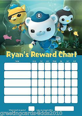 Personalised Octonauts Reward Chart & Pen - with or without photo