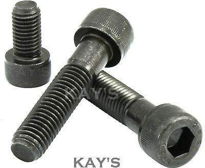 M6(6mm) HIGH TENSILE 12.9 CAP HEAD ALLEN BOLTS SELF COLOUR BLACK SOCKET SCREWS