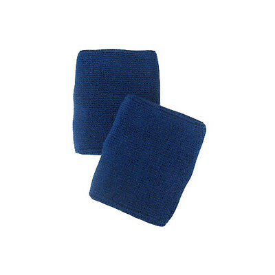 Blue Sports Quality Sweat Band Wristbands - Large Size