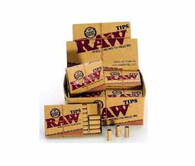 20 PK RAW PRE ROLLED TIPS Natural Prerolled for Cigarette Filter Rolling Paper