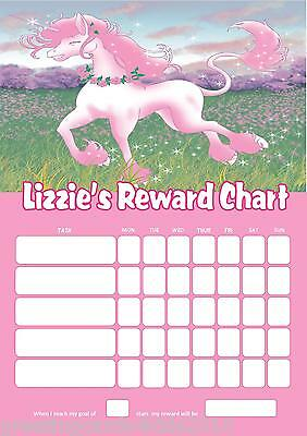 Personalised Unicorn Reward Chart & Pen with or without photo