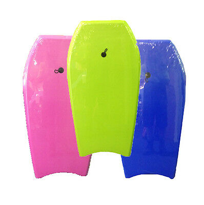 "NEW SLICK BLUE GREEN PINK 44"" Body Boogie Board 112 x 57 Surf Waves Beach Fun"