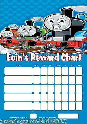 Personalised Thomas the Tank Engine Reward Chart & Pen with / without photo