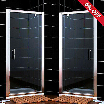 Pivot Hinge Shower Door Enclosure Screen 700/760/800/860/900/1000mm Safety Glass