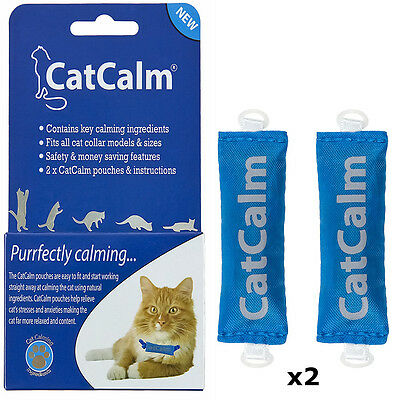 CatCalm Natural Cat Calming Formula Pouches x2. Universal & Attaches To A Collar