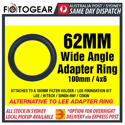 62mm Wide Angle Adapter Ring Metal LEE SINGH-RAY NISI 100mm 4x6