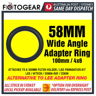 58mm Wide Angle Adapter Ring Metal LEE SINGH-RAY NISI 100mm 4x6