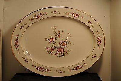 Noritake Ivory china, #7151 Asian song, one 16 1/4 inch oval serving platter