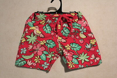 Baby Girl Size 00,0,1,2 Cupid Girl Pink Floral Board Shorts NWT
