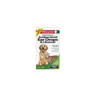 Bob Martin Vetzyme Pet Anti-bacterial Ear Drops & Cleanser 18ml