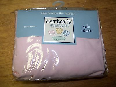 NEW CARTERS STARTERS Vintage PINK Fitted Crib Sheet  Free US Shipping