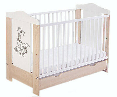 Baby cot with drawer/ baby cots/ DUMBO 3 colours + coconut foam mattress
