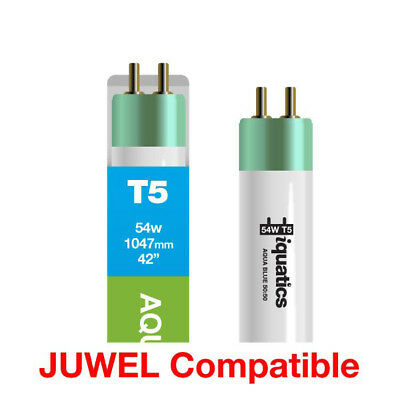 3 x iQuatics 54w JUWEL Compatible T5 AquaBlue Special 50:50 White + Blue Blend
