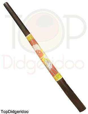 "47""120cm Teak DIDGERIDOO Spider Dot-Painting +BAG+Beeswax Mouthpiece SHIPS FREE"
