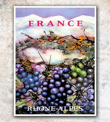 "French Art Vintage Travel Poster France Print 12x16"" Rare Hot New A594"