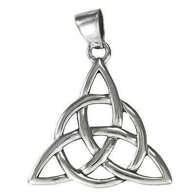 Large Sterling Silver Celtic Trinity Knot Triquetra Pendant Jewelry Irish
