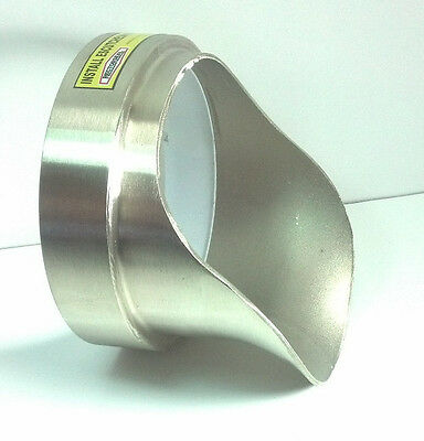 """Rectorseal 82708 G-O-N 6"""" Nickel Brass Downspout Glue On Nozzle"""